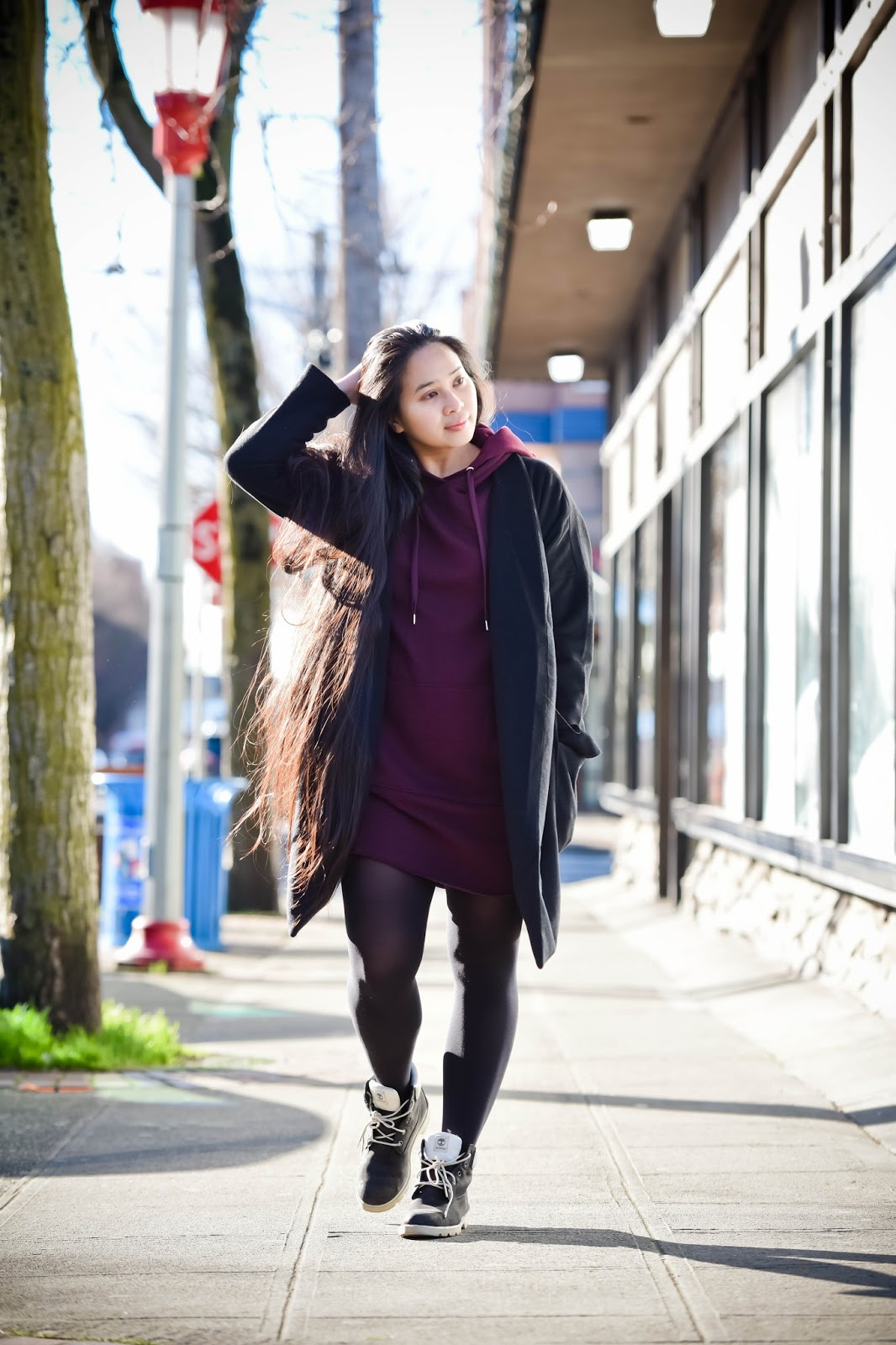 seattle blogger ootd international district chinatown h&m