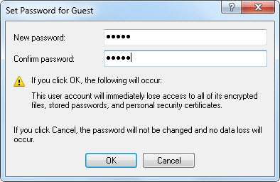 Set Password for Guest