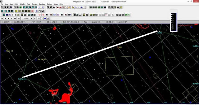 Palmia Observatory Resident Astronomer uses Megastar to plot camera field of view
