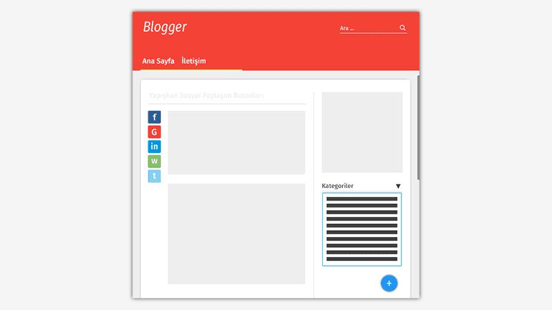 Blogger Yapışkan Sosyal Paylaşım Butonları