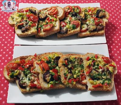 firinda kahvaltilik ekmek dilimleri, kahvaltilik ekmek dilimleri, ekmek dilimleri, kolay pizza