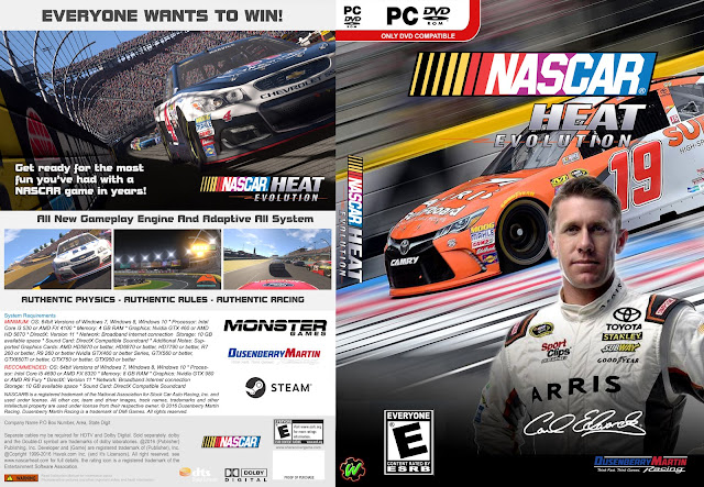 Capa Nascar Heat Evolution PC