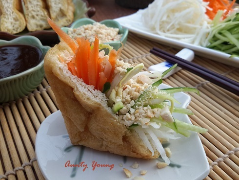 Aunty Young(安迪漾): Stuffed Tofu Puffs with Sweet and Spicy ...