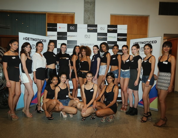 Models at #GETNOTICED  auditions for the Amazon India Fashion Week Spring-Summer 2017, in association with Maybelline New York