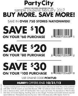 free Party City coupons for february 2017