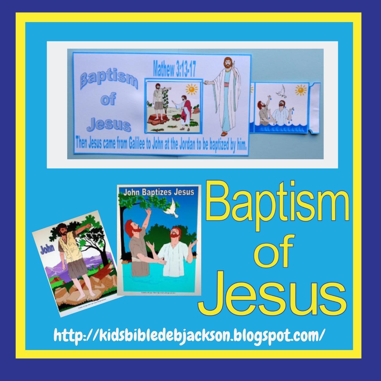 Bible Fun For Kids John Baptizes Jesus