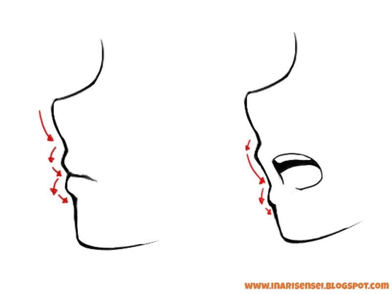 Dessiner les lèvres de profil