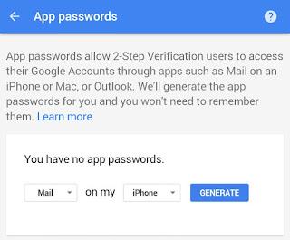 Generate application-specific password