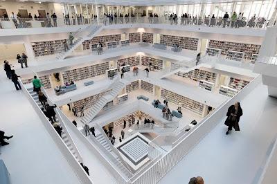 Biblioteca en Stuttgart, Alemania