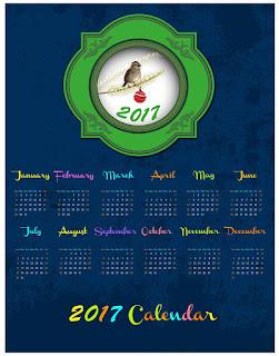 2017カレンダー無料テンプレート19