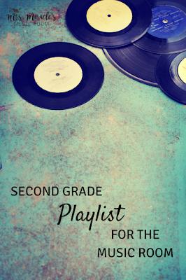 Second grade playlist for the music room: Three fun recordings for your music lessons, for dancing, listening, and rhythm!