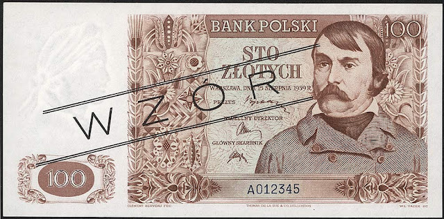 Poland currency 100 Polish złoty banknotes notes
