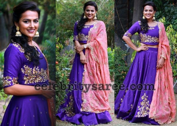 Shraddha Srinath Purple Lehenga