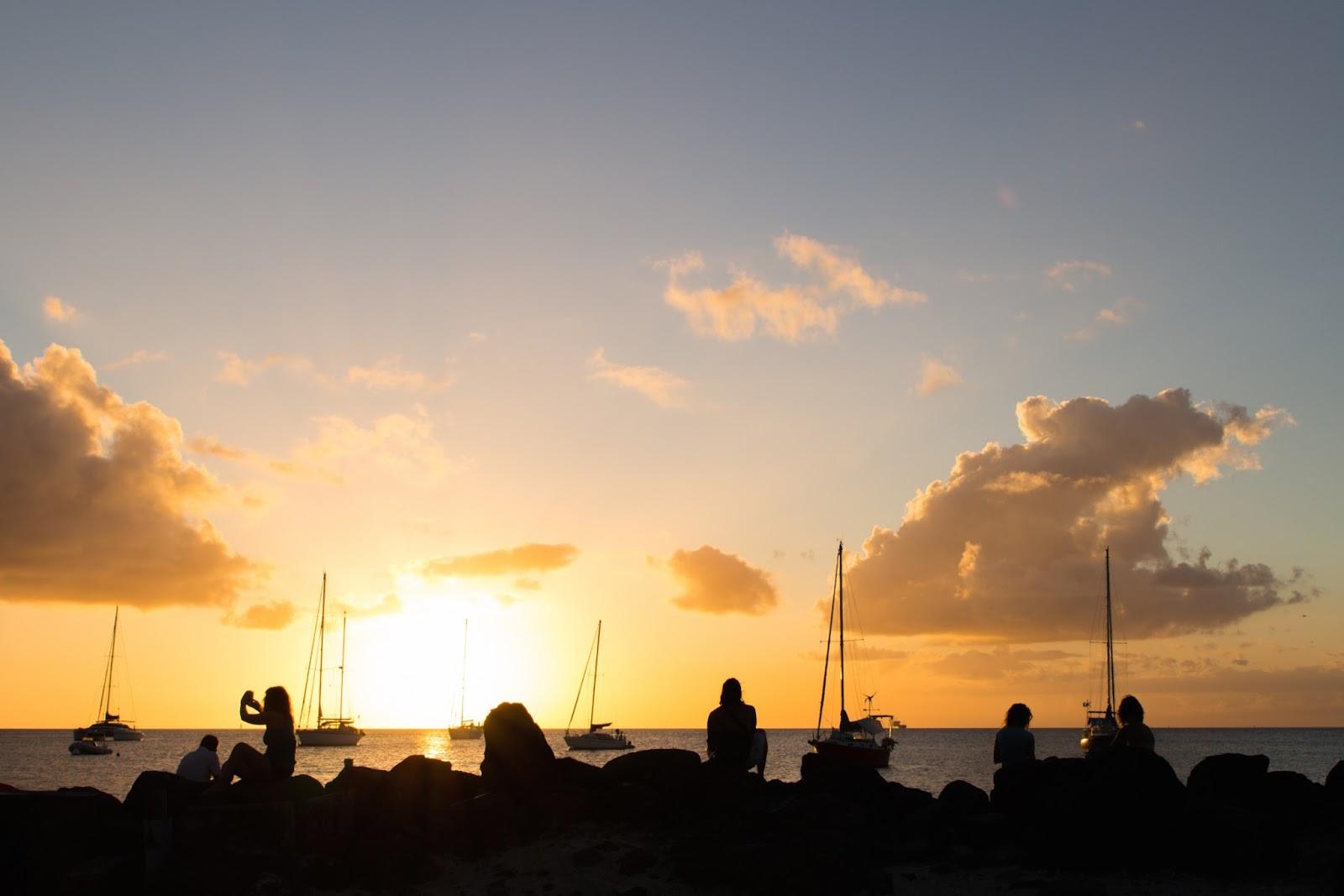 Coucher de soleil Trois Ilets Martinique