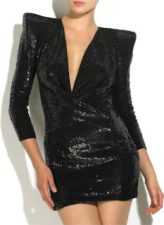 Balmain Black Sequin Dress
