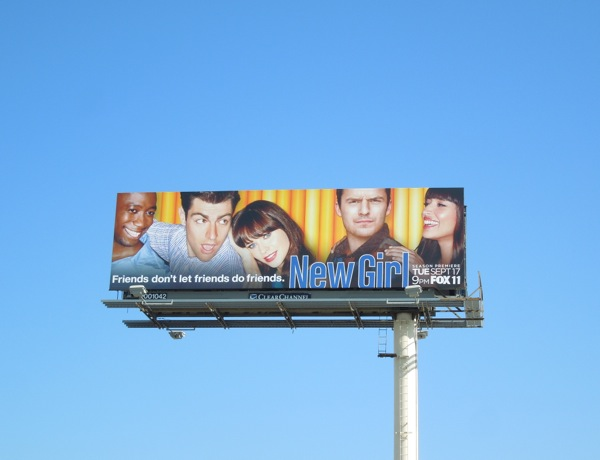 New Girl season 3 billboard