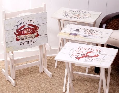 nautical tray tables