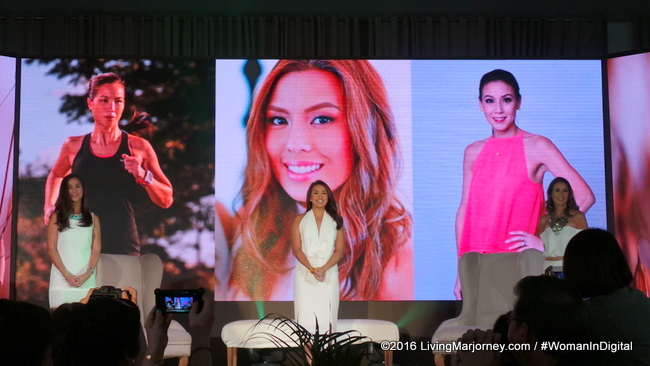 Aveeno ambassadors in the Philippines, Nikki Gil-Albert, Christine Jacob-Sandejas, and Jaymie Pizzaro