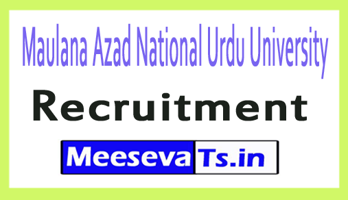 Maulana Azad National Urdu University MANUU Recruitment