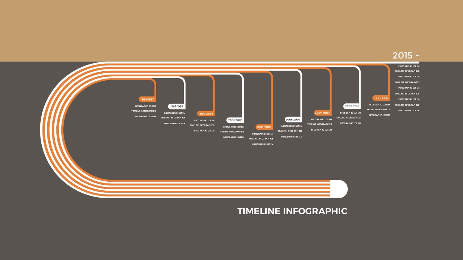 Infographic Timeline Free PowerPoint Template - Infographicon