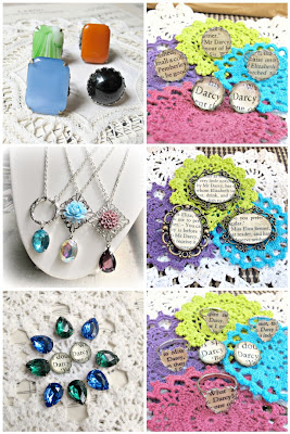 image mosaic vintage glam it up jewellery and Pride and Prejudice jewellery and brooches