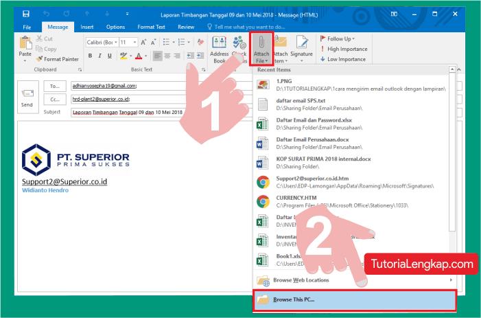 Cara membuat dan mengirim email menggunakan outlook