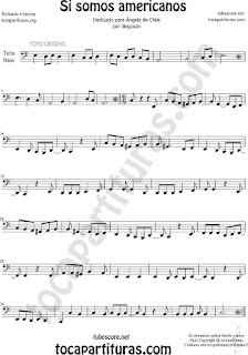 Trombone, Tube and Euphonium Sheet Music for Si Somos Americanos Chilean Music Scores
