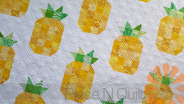 Piece N Quilt Pineapple Quilt Edge To Edge Machine Quilting By
