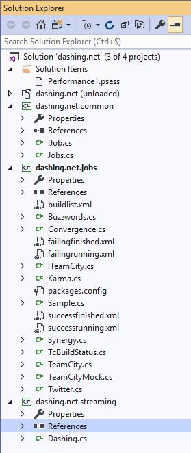 Dashing.net Visual Studio Projet