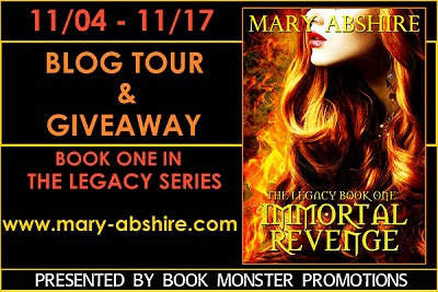 Guest Post & Giveaway- Mary Abshire's IMMORTAL REVENGE