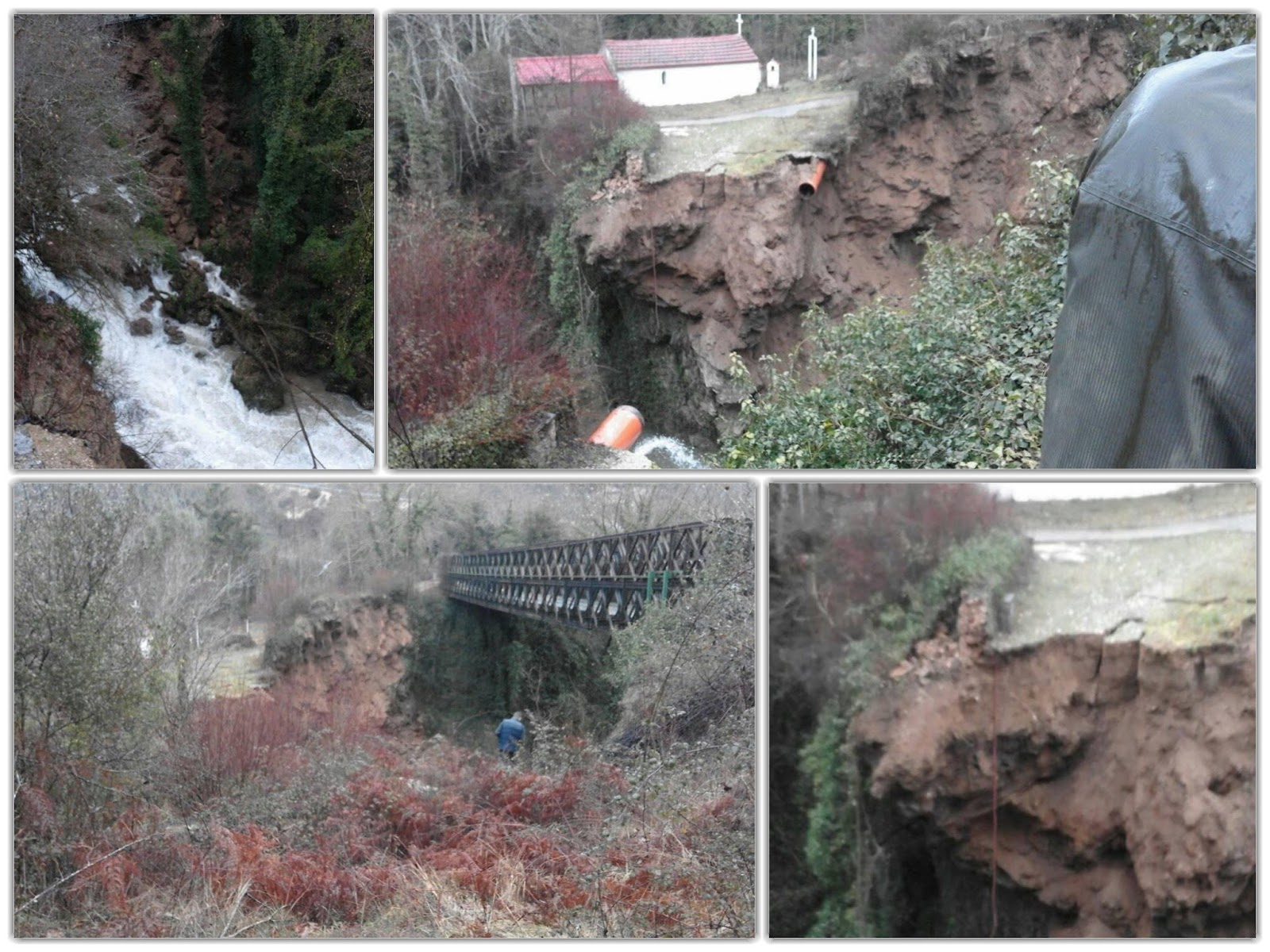 """Έκτακτο: Κατέρρευσε το """"Θεογέφυρο"""" του Καλαμά"""