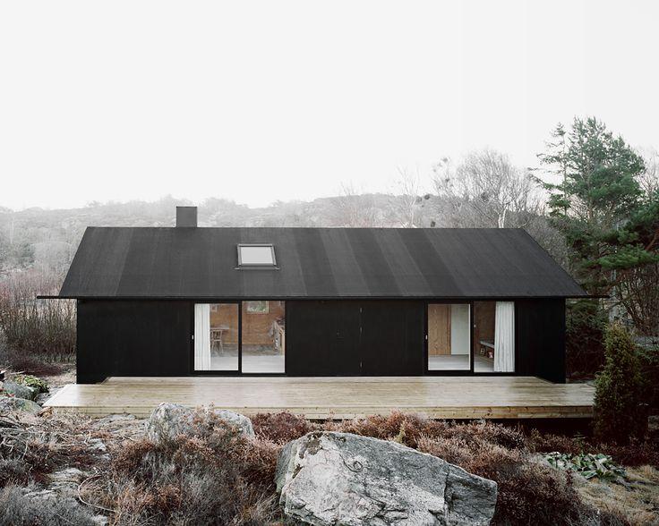 černá fasáda
