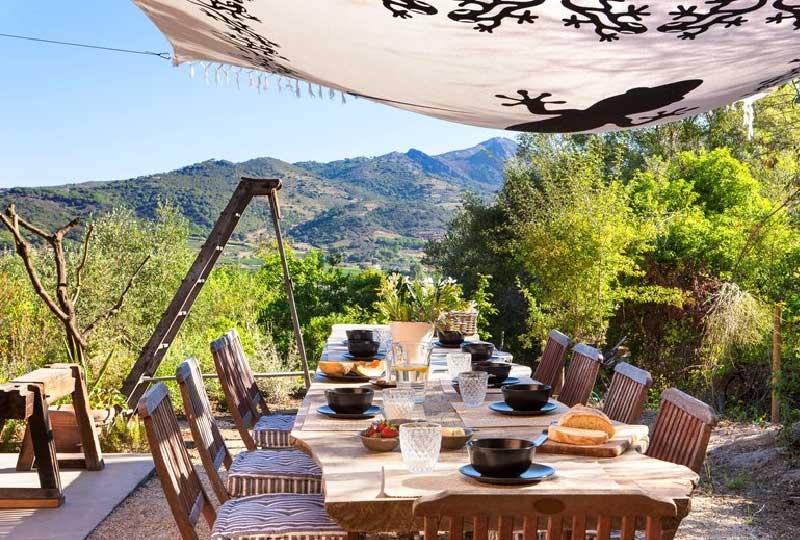 tavolo da giardino in legno di cedro del libano