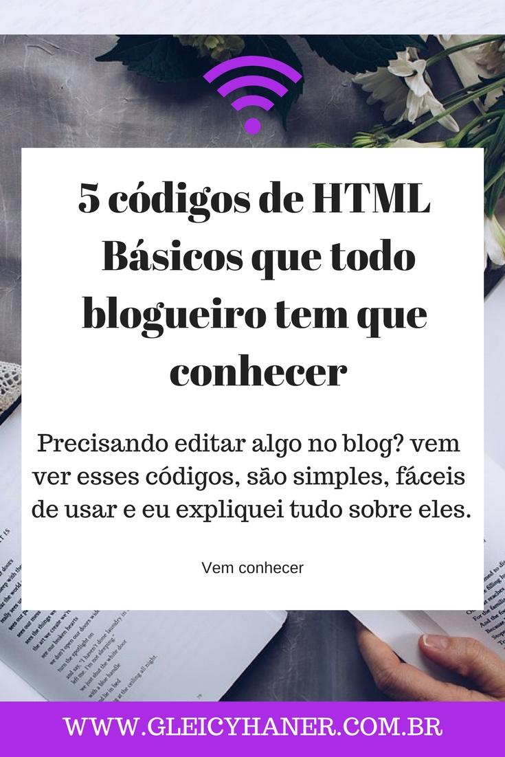 Códigos de html básicos