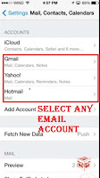 how to delete email by date on iphone