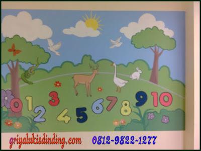 Mural lukis dinding playground taman bermain Paud dan TK