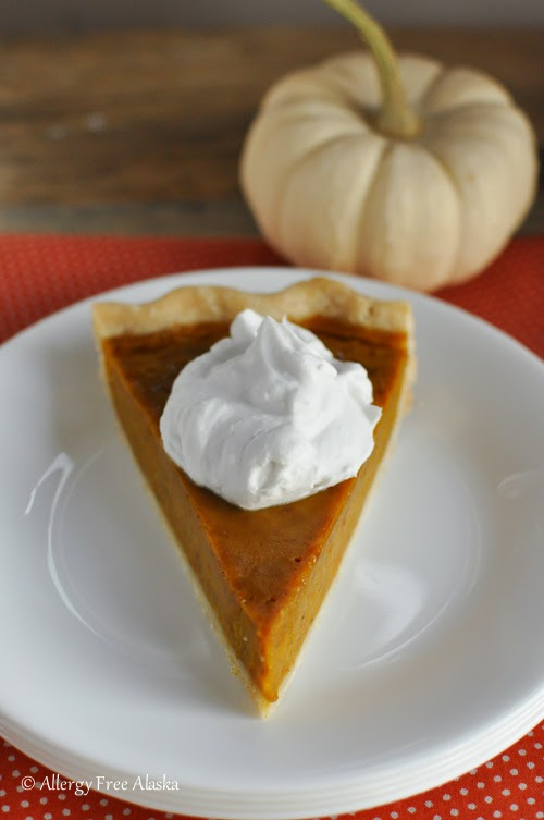 Gluten & Dairy Free Maple Pumpkin Pie from Allergy Free Alaska