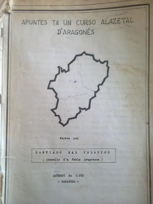 Apuntes ta un curso alazetal d´aragonés, Santiago Bal Palacios, 1976