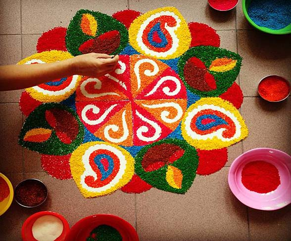 Rangoli Images With Hand