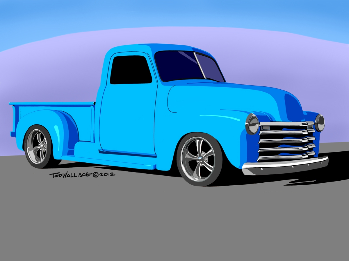 Tod's Art Blog: Old Blue - Chevy Truck