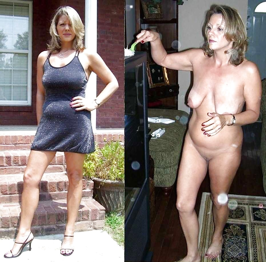 Wife naked clothed