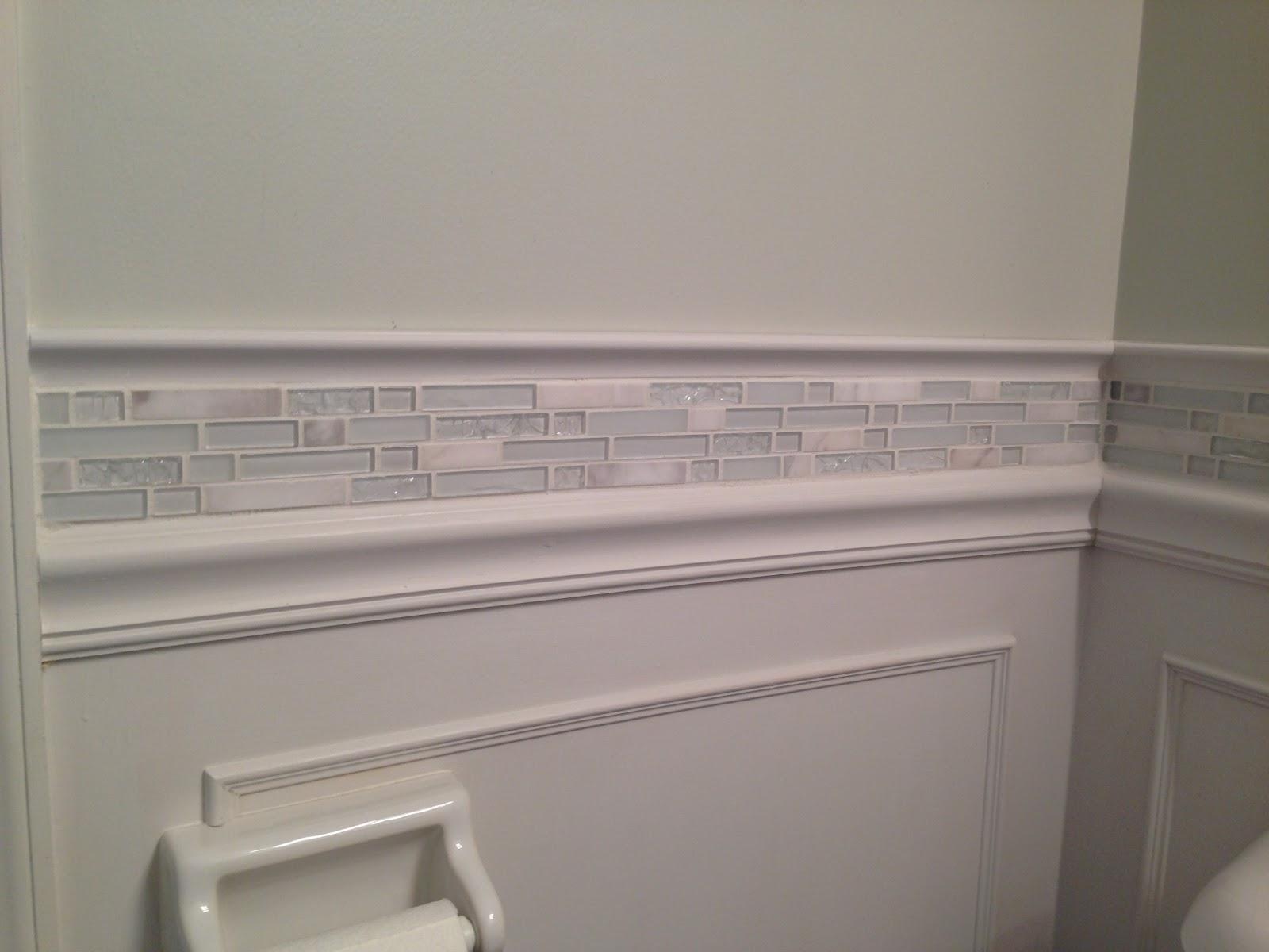 Sunshine Daisies: Bathroom Tile Wainscoting