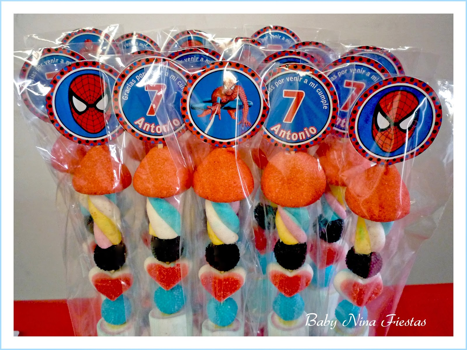 Baby nina fiestas fiesta tem tica spiderman para el - Motivos infantiles para decorar ...