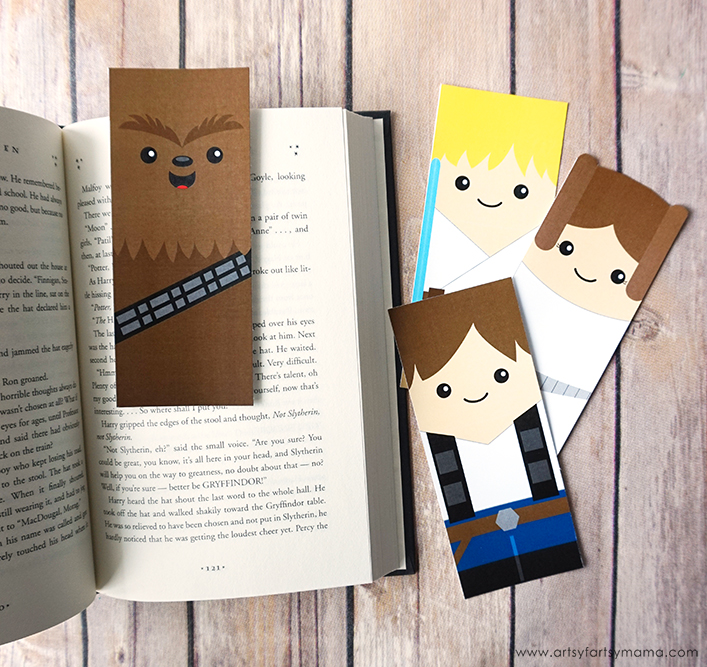 picture relating to Star Wars Bookmark Printable named Free of charge Printable Star Wars Bookmarks artsy-fartsy mama