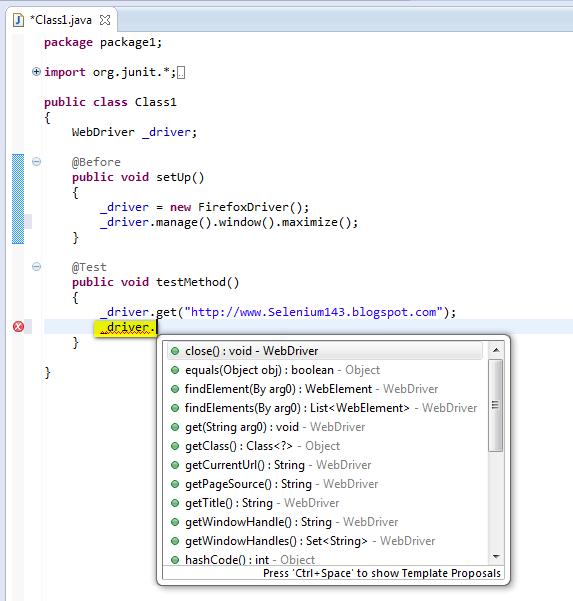 Selenium-By-Arun: 290  manage( ) window( ) maximize( ) - to maximize