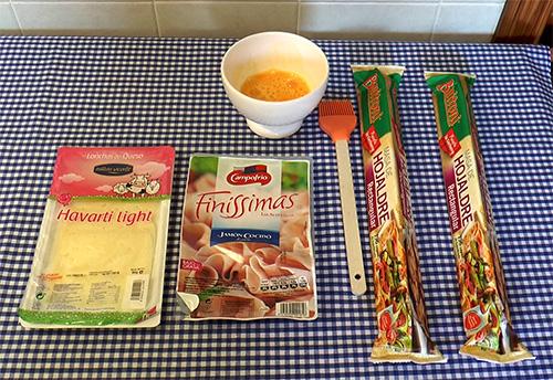 Ingredientes receta pastel salado hojaldre jamón queso Buitoni La Cocinera