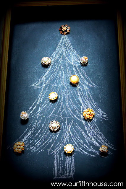 Our Fifth House: Simple Vintage Chalkboard Christmas Tree
