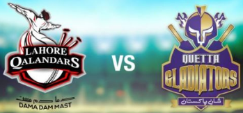 Quetta Gladiators vs Lahore Qalandars