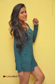 Telugu Actress Prasanthi Stills in Green Short Dress at Swachh Hyderabad Cricket Press Meet  0012.JPG