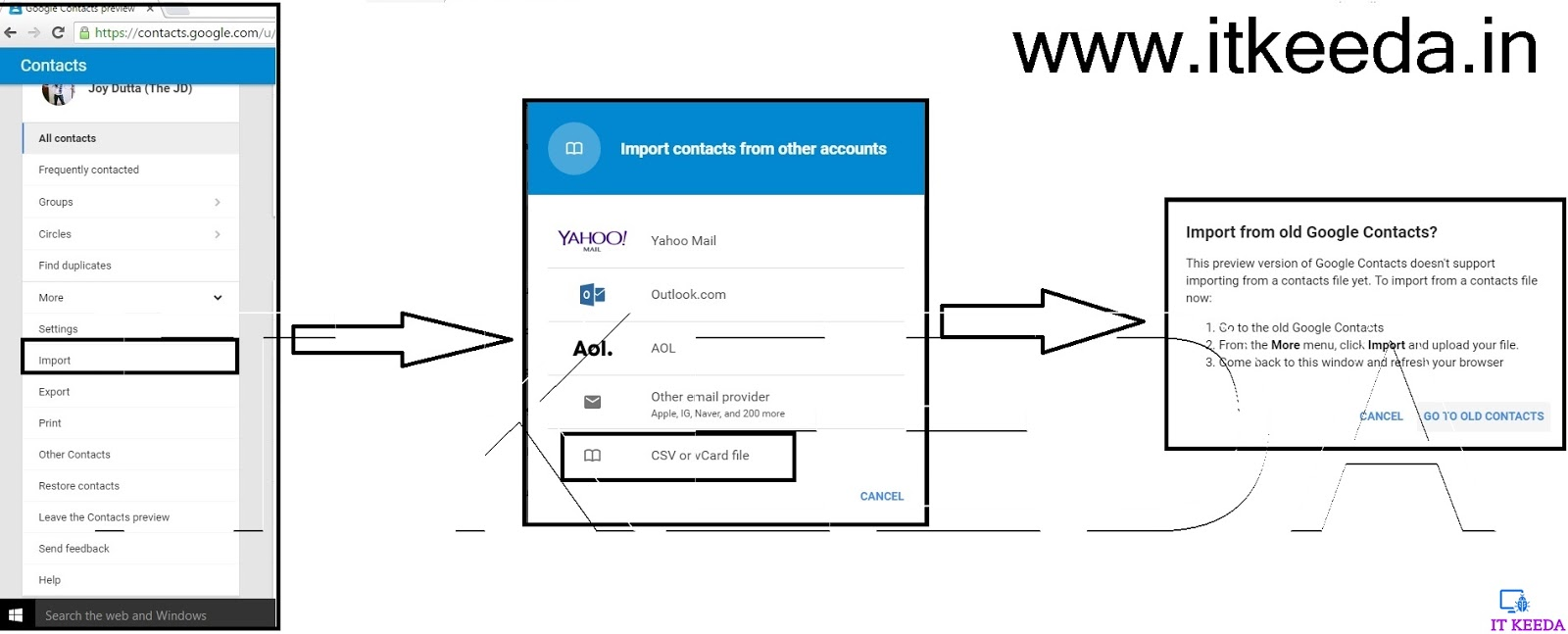 How to Upload Contacts In Google Contacts (Excel) - IT KEEDA